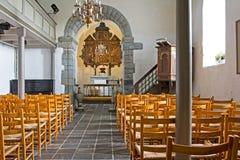 Interno norvegese della chiesa Immagini Stock