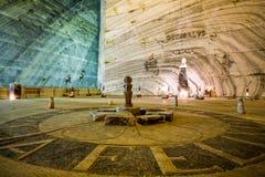 Interno profondo della miniera di sale Fotografia Stock Libera da Diritti