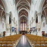 Interno ricco della chiesa del san-Katharina, Hoogstraten, Belgio Immagini Stock
