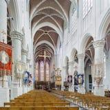 Interno ricco della chiesa del san-Katharina, Hoogstraten, Belgio Fotografia Stock