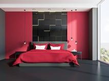 Camera Da Letto Rossa E Grigia : Camera da letto specializzata con mobilia rossa immagine stock