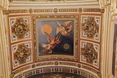 Interno russo del tempio della cattedrale di ortodossia Fotografie Stock