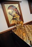 Interno russo della chiesa ortodossa fotografia stock
