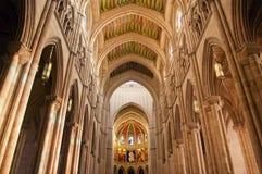 Interno spagnolo della cattedrale Immagine Stock Libera da Diritti