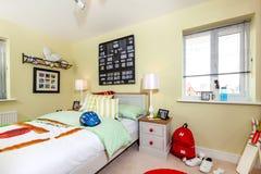 Interno splendido della camera da letto della casa di manifestazione dei bambini Fotografia Stock