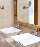 Interno standard del bagno immagini stock