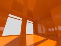 Stanza arancio Fotografie Stock