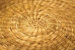 Interno strutturato del vimine creativo dorato d'annata Immagine Stock Libera da Diritti