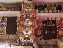 Interno tipico della casa tradizionale Harar Jugol l'etiopia Fotografia Stock