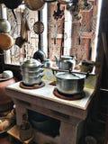 Interno tradizionale della cucina Fotografia Stock Libera da Diritti