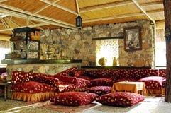 Interno turco tradizionale del ristorante Fotografia Stock