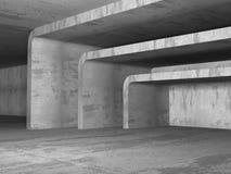 Interno urbano della stanza concreta urbana vuota scura Fotografia Stock Libera da Diritti
