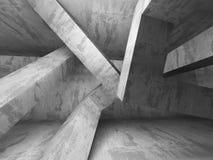 Interno urbano della stanza concreta urbana vuota scura Fotografia Stock