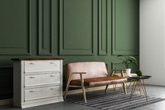 Interno verde del salone royalty illustrazione gratis