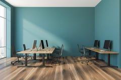Interno verde dell'ufficio open space illustrazione vettoriale