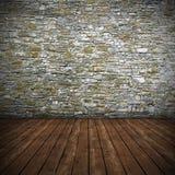 Interno vuoto con la parete di pietra Fotografia Stock Libera da Diritti