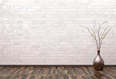 Interno vuoto con la rappresentazione del vaso 3d Fotografia Stock Libera da Diritti