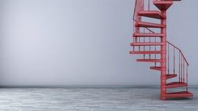 Interno vuoto con la scala a chiocciola Fotografia Stock