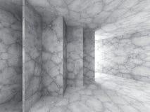 Interno vuoto concreto della stanza scura con l'uscita leggera Architettura Immagini Stock Libere da Diritti