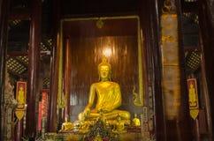 Interno, Wat Phan Tao, Tailandia Fotografia Stock Libera da Diritti