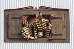 Internos en la ventana Imagen de archivo libre de regalías