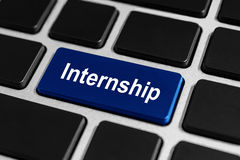Internship button on keyboard Stock Images
