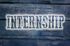 Internship Concept. Text on background royalty free stock photo