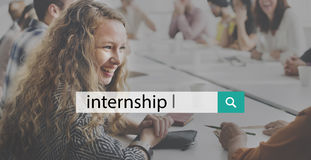 Internship Learning Career Preparation Concept stock images