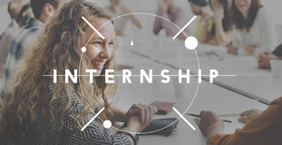 Internship Learning Career Preparation Concept. Internship Learning Career Preparation Working royalty free stock photography