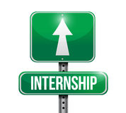 Internship road sign illustration design Royalty Free Stock Photos