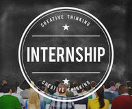 Internship Skills Temporary Management Trainee Concept.  stock photography