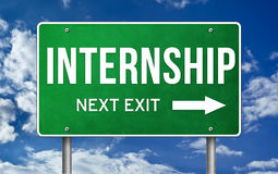 Internship. Take the next exit royalty free stock image