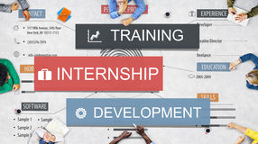 Internship Training Development Business Knowledge Concept royalty free stock photos