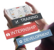 Internship Training Development Business Knowledge Concept stock photos