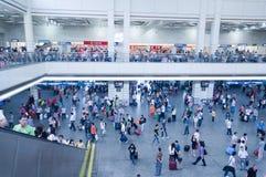 Internt av Guangzhou järnvägstation arkivfoto