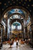 Internt möblemang av den Panteleimonovsky domkyrkan i ett nytt royaltyfri foto