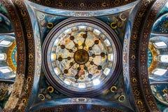Internt möblemang av den Panteleimonovsky domkyrkan i ett nytt fotografering för bildbyråer