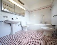 internt trevligt för badrum fotografering för bildbyråer