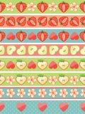 Interny truskawka, Apple, serca, kwitną ilustracji