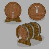 Intero barilotto di legno illustrazione vettoriale