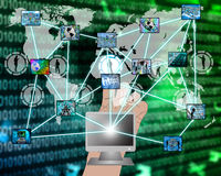 Intero Internet Fotografia Stock