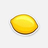 Intero limone dell'autoadesivo Immagine Stock Libera da Diritti