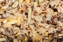 Intero pane del grano del primo piano dettagliato con molti grani Immagini Stock