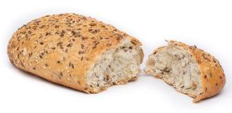 Intero pane del grano tagliato Immagine Stock