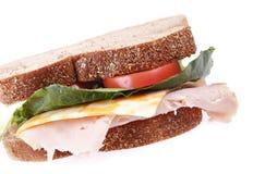 Intero panino di tacchino del granulo Fotografie Stock
