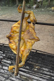Intero pollo arrostito Fotografia Stock