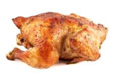 Intero pollo arrostito isolato fotografia stock libera da diritti