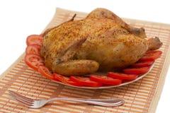 Intero pollo cotto Fotografia Stock
