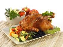 Intero pollo croccante immagine stock