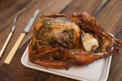 Intero pollo fritto Fotografia Stock Libera da Diritti